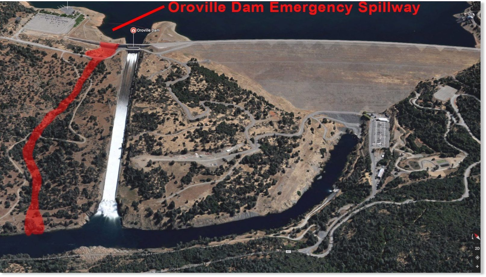 Update: Oroville Dam overtops, government still refuses to order