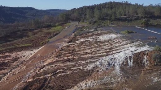 "Update: ""ROCK SHOT"" at Oroville Dam: Repair before more rain overtops spillway again"
