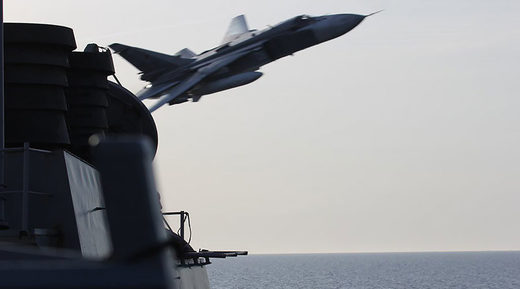 Sukhoi Su-24 Russia Russian Air Force USS Navy Donald Cook Jet