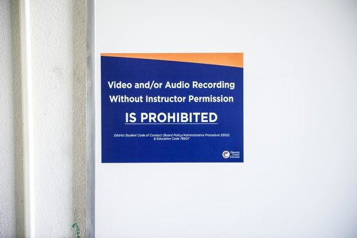 Video and/or audio recording prohibited sign