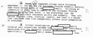 FBI report on 9/11