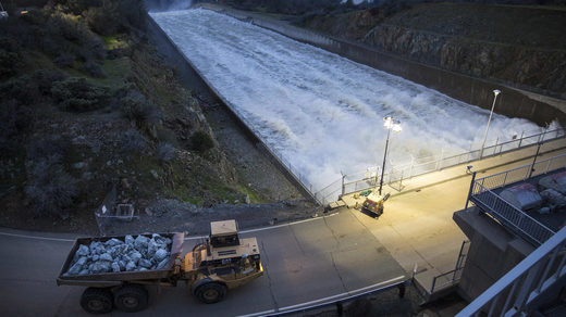 California's Oroville Dam update: Spillway releases curbed, even as 'atmospheric river' looms