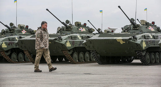 Why Kiev's shelling raids on Donbass coincide with Poroshenko's foreign tours
