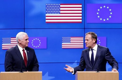 Sources say White House delivered EU-skeptic message to German diplomat ahead of Pence's visit pledging commitment to EU