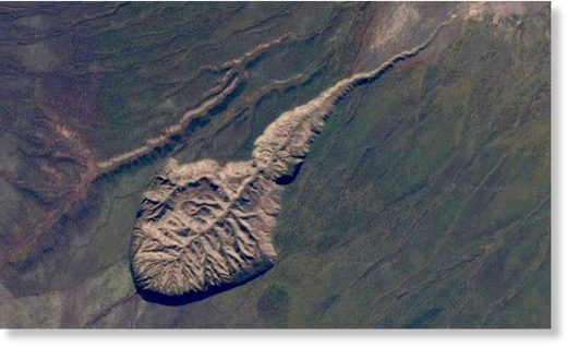 The Batagaika Crater in eastern Siberia is a result of recent permafrost melting