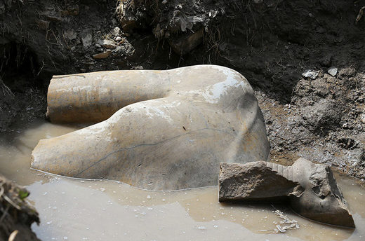 Statue Ramses discovered Cairo