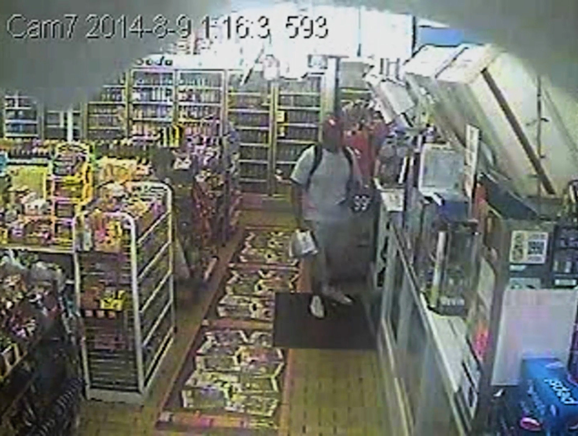 Unseen surveillance footage disputes allegation Michael Brown robbed ...