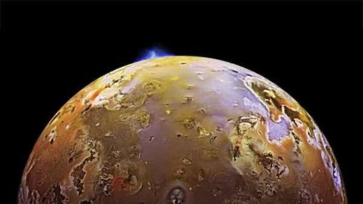 Jupiter's moon Io is volcanically active