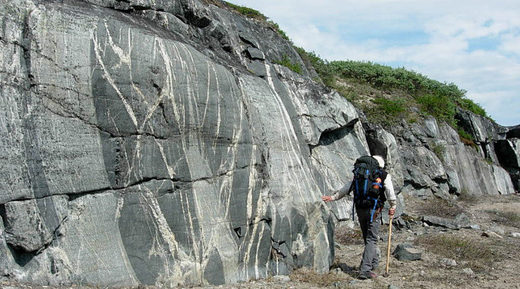 ancient crust found along the eastern shores of the Hudson Bay