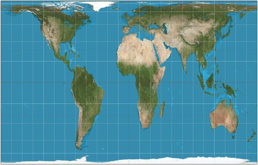 And the Gall-Peters Projection