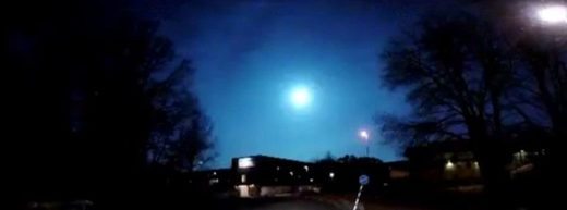 Bright blue fireball over Sweden on March 20, 2017