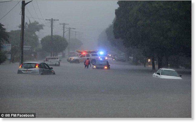 20 inches of rain in 1 week in Australia