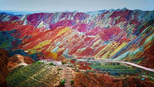 Zhangye Danxia Landform Geological Park in Gansu Province, China