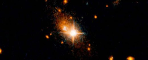 tell-tale quasar and its host galaxy