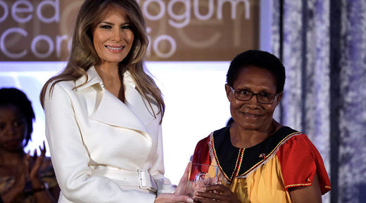 'Time for empowering women... is now': Melania Trump honors activists from around the world