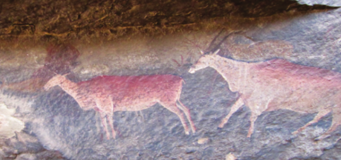 Carbon dating rock art