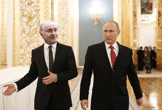 Jacques Cheminade and Vladimir Putin (collage)