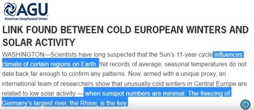 Signs of mini ice age in Europe