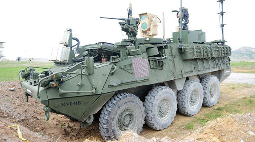 laser equiped US Stryker armored vehicle