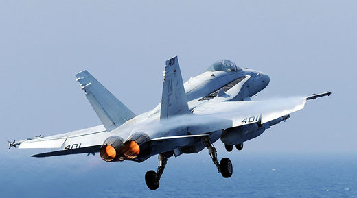 US Navy F-18 from carrier Carl Vinson crashes off the Philippines, pilot ejects safely