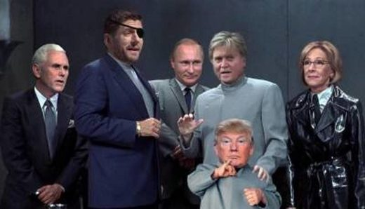 Trump austin powers villians