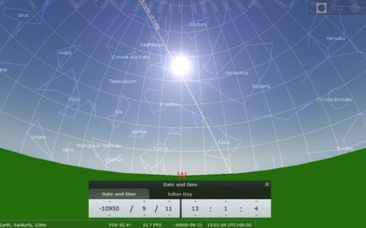 Sun and star positions
