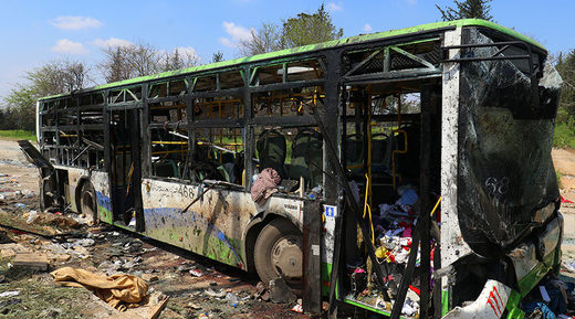 aleppo bus bombing
