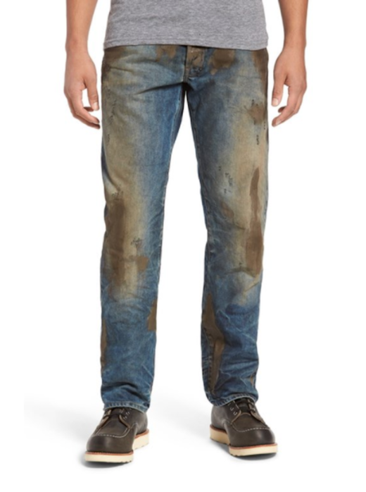 If you're looking for the SHTF look: Nordstrom is selling a pair of dirty jeans for $425 — and people are furious