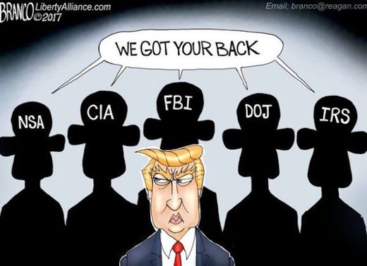 Afbeeldingsresultaat voor Assad says Trump is hijacked by the deep state cartoon