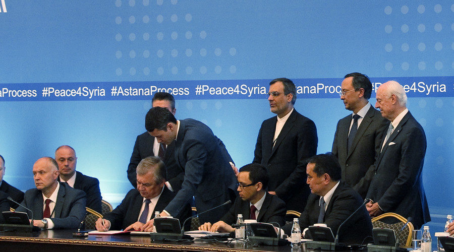 Russia Iran And Turkey Sign Agreement On Creation Of Syria De