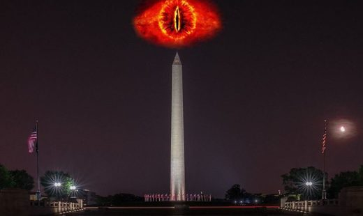 Eye od Sauron over Washington graphic