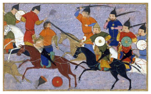 Battle between Mongols and the Chinese