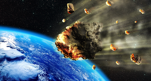 A large asteroid breaking up