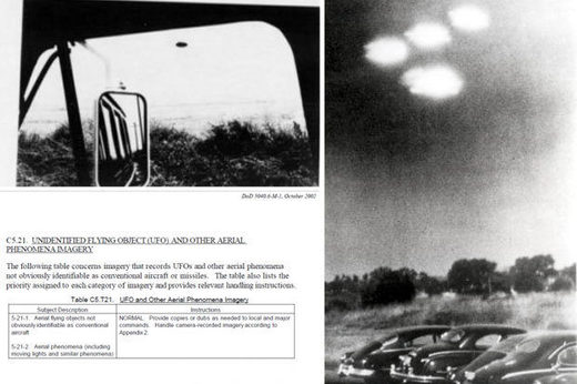 US military's declassified files: Instructions on how to photograph UFO's