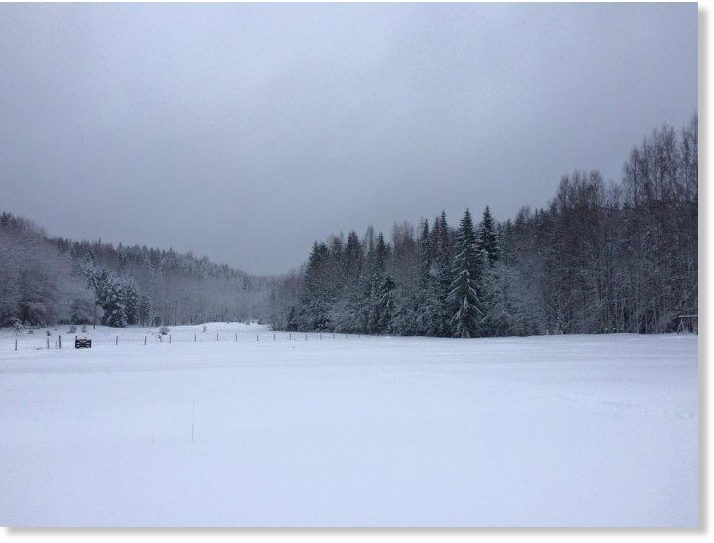 26 cm (10 inches) of snow recorded in eastern Finland on
