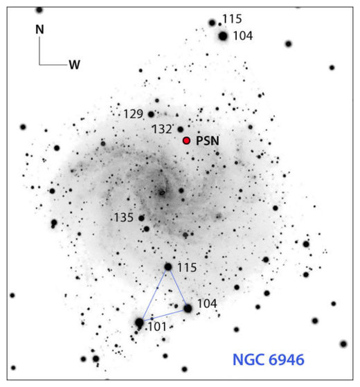 Possible supernova in NGC 6946