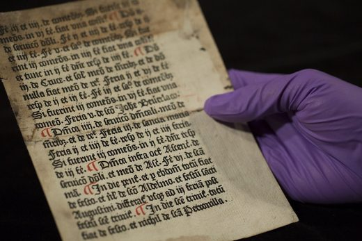 Librarian discovers 540-year-old page from medieval priests' handbook