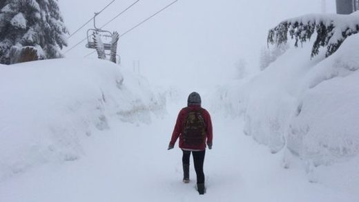 Grouse Mountain in British Columbia receives 25-cm (9 inches) dump of May snow