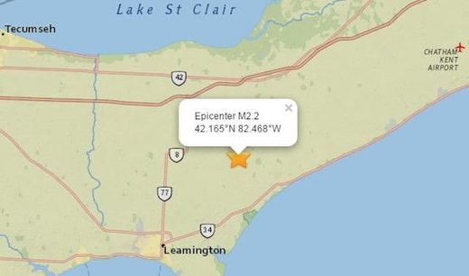 Earthquake, 'loud sonic boom' startles southwestern Ontario couple watching hockey game