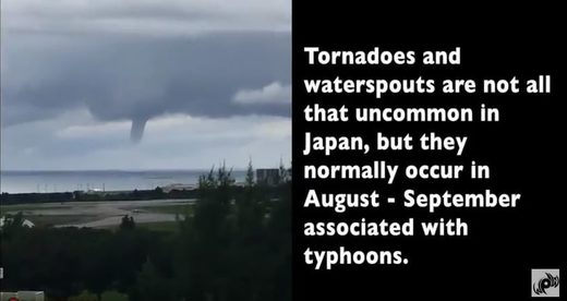 Rare waterspout captured in Okinawa, Japan (VIDEO)