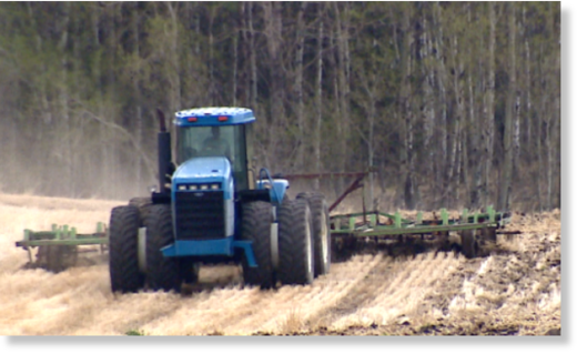 Some Alberta farmers are facing challenges as they seed after a wet spring and harvest crops that were snowed under last year.