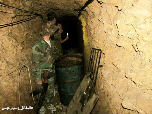 Syrian rebel tunnel