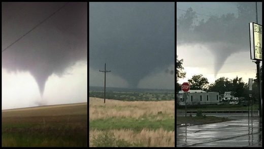 Multiple tornadoes touch down in Oklahoma; storm drops tennis ball-sized hail