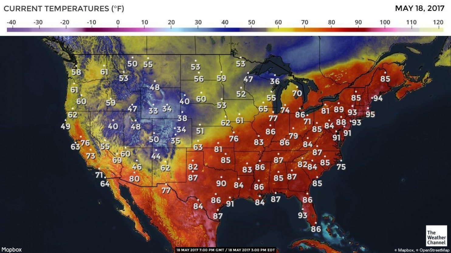 so weird  northeast us has nation u0026 39 s hottest weather
