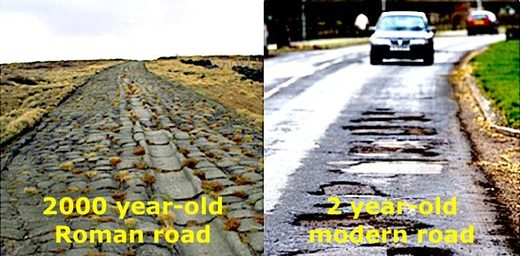 Built to last, Roman roads withstand the passage of time