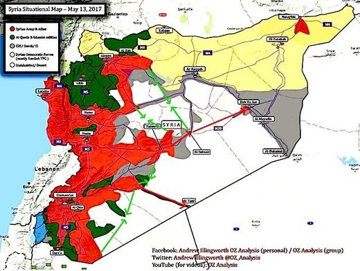 Syria situational map