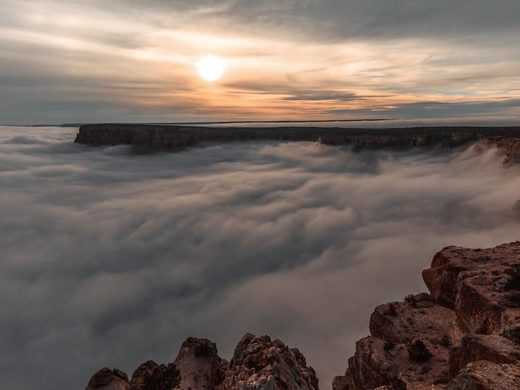 Rare meteorological event creates cloud spectacle at Grand Canyon