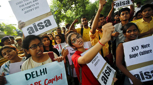 All India Students Association protest against rape