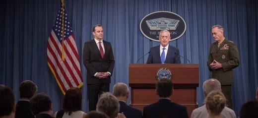 Brett McGurk, Jim Mattis, and Joseph Dunford