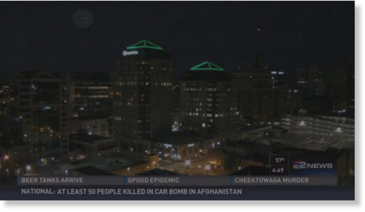 Weather cam catches meteor over downtown Buffalo